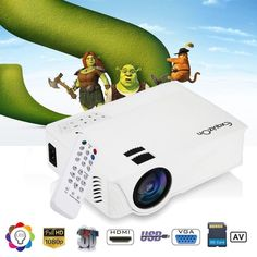 Portable LED Projector HD 1080P 7000 Lumens Home Theater Video Movie 3D HDMI USB | Consumer Electronics, TV, Video & Home Audio, Home Thea .. Home Theater Setup, Home Theater Seating, Projector Hd, Home Theater Projectors, Video Home, Wireless Speakers, Hd 1080p, Sd Card, Consumer Electronics