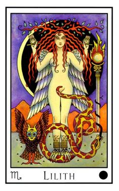 'LILITH: The active part of the Black Flame, the Primal instinct which unites to cause action. Lilith is the desire in Sexual Arousal, Lilith is the desire in Lust and the fire to motivate Samael and the result of desire. She is the continual hunger to become.' — Michael W. Ford, Liber HVHI
