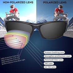 ce1dec778e RIVBOS Polarized Sports Sunglasses Driving Sun Glasses For Men Women TR 90  Unbreakable Frame For Cycling Baseball Running (Black Grey)