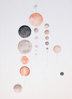 stellar pieces _ stella maria baer paints planets and moons