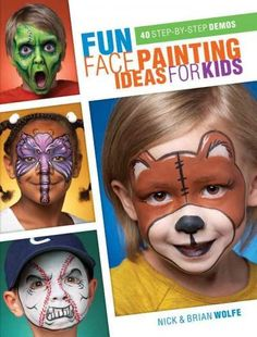Design a silly face...or a scary one, or a fairy one, or anything else you can dream up! The world-renowned authors of Extreme Face Painting are taking it back to the basics, with some innovative twis