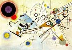 """Título: Composición VIII. Autor: wassily Kandinsky. Fecha: 1923. Estilo artístico: La abstracción (Movimiento vanguardista del siglo XX). Características: Da la sensación de que las manchas flotan en el espacio. Se interesa por un arte """"no objetivo"""" en el cual el único tema es el color y la línea. Se relaciona más con lo espiritual que con lo material. Su pintura muestra una tendencia geométrica."""