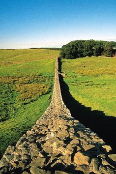 Hadrian's Wall, England: a defensive fortification in Roman Britain. Built 122 AD, the first of two fortifications, the second being Antonine Wall. It is opn national cycle route 72, a UNESCO world Heritage site (1987). Most popular tourist site in N. Eng, most important monument built by Romans in Britain.