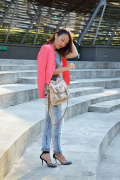 2e98796e6c6477 Blazer  Cotton On  Top  Uniqlo  Bag  New Look  Jeans  Zara  Rings  H M   Shoes  M)phosis We wear pink