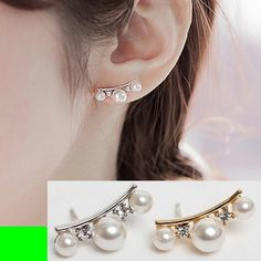 Pearl String Curved Ear Cuffs | LilyFair Jewelry, $10.99!