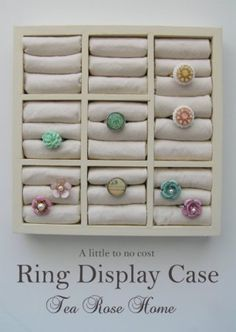 Ring Display from a Picture Frame - 150 Dollar Store Organizing Ideas and Projects for the Entire Home