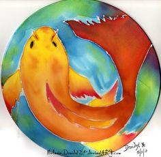 Koi Silk Painting by MelanieDraidnt24