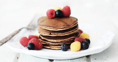 Spiced Banana Almond Meal Pancakes — Roost