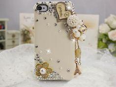 []grdx02066rhinestone handmade love ball case for iphone4/4s