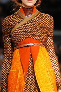 Missoni - patterned wool, bright colour contrast, cinched waist, structured folds, wrapping
