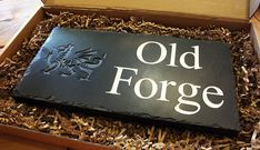 Valley Mill's house signs are anything but ordinary!  They are handcrafted from the finest 20mm thick Welsh slate to your very own bespoke design.  Get started with designing yours on our website at www.valleymill.co.uk/personalised/house-signs/