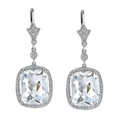 Diamond Earrings. Hand made in platinum and designed by Neil Lane. Neil Lane is a leading Hollywood jewelry designer.