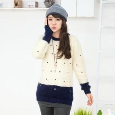 Buy '59 Seconds – Polka Dot Mohair Sweater' with Free International Shipping at YesStyle.com. Browse and shop for thousands of Asian fashion items from Hong Kong and more!
