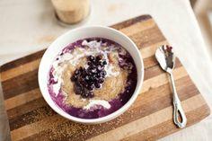 Immensely inviting Blueberries 'n' Cream Amaranth Porridge.