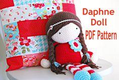 Crochet Doll PDF Pattern- The Daphne Doll Crochet Pattern. $7.50, via Etsy.
