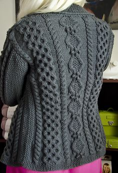 a0ad3d474 Knit cardigan sweater - crazy cables wreathes and berries Ruth aran cardigan  (Ethnic Knitting Adventures)  Knitty Winter 2012 . the new Knitty is up!