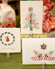 Make use of old postage stamps and give a personal touch to your holiday cards with this wonderful craft.