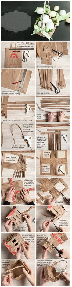Diy Kraft Paper Basket | DIY & Crafts Tutorials