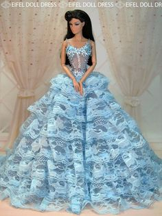 Eifeldolldress Fashion Royalty Evening Dress Gown BArbie Silkstone Efdd 0066 | eBay