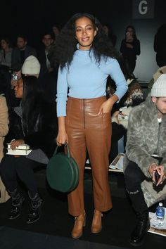 Solange Knowles Photos Photos - Singer Solange Knowles attends the Baja East Fall 2016 fashion show during New York Fashion Week: The Shows at The Dock, Skylight at Moynihan Station on February 13, 2016 in New York City. - Baja East - Front Row - Fall 2016 New York Fashion Week: The Shows