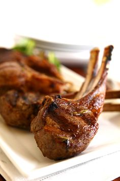 Grilled Lamb chops with Smoked Tomato-Eggplant Relish