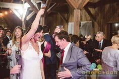 happy times on the dance floor at @boonehall Cotton Dock . Her dress by @RebeccaSchone  Wedding coordination and planning by @mikewinship