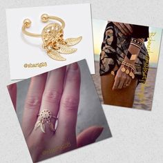 """⚡️⚡️Deal of the Day-⚡️Boho Dream Catcher Cuff Ring Gold Bohemian Chic Cuff Ring, with feathers. Truly unique! Very on trend this year.                Like this listing to be notified when in stock.  *Color: Matte Gold                                                  *Theme: Feather                                                      *Size: 0.5"""" X 0.9""""                                                     *Cuff Farah Jewelry Jewelry Rings"""