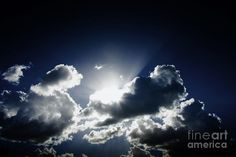 Sky Landscape Of The Sun Emerging From An Ethereal And Heavenly Cloud Formation by Ryan Jorgensen
