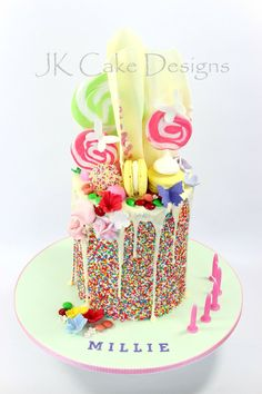 Lolly overload chocky drip cake
