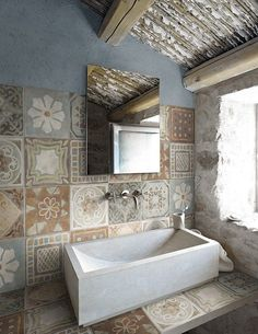 Patchwork tile with character and style by @CeramicaPanaria