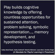 Play based learning has so many rewards!