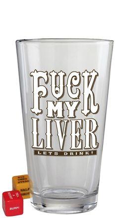 Trixie & Milo F*** My Liver Pint Glass Blame Betty