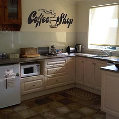 COFFEE SHOP Kitchen Vinyl Wall Sticker Decal 20 in h x 40 in w on Etsy, $24.99