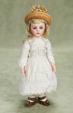 """View Catalog Item - Theriault's Antique Doll Auctions - beautiful french bisque bebe bru jne, 12"""""""