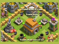 Town Hall 6 - The Best level 6 Town Hall Defense for Clash of Clans. The Base Layout for Defending your Village and Resources at Town Hall 6.