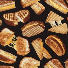 Grilled Cheese Fabric- I can't resist food or fabric!