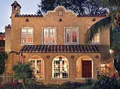 Spanish mission-style home in Coral Gables.  It's gorgeous!