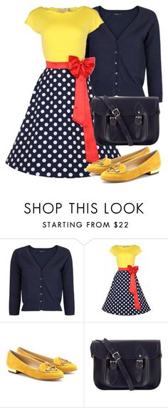 """Untitled #604"" by bellatrix87 ❤ liked on Polyvore featuring MANGO, Charlotte Olympia and The Cambridge Satchel Company"