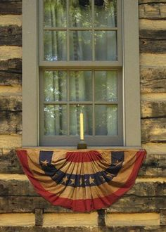 4th Of July Decorations, Americana Decorations, Rustic Americana Decor, Americana Crafts, Country Crafts, Flag Decor, Country Decor, Patriotic Bunting, Brick Cottage