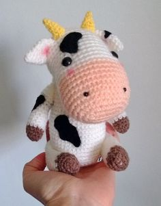 Handmade Stuffed Little Cow Doll