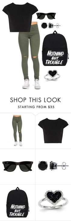 """Untitled #39"" by ahmya-artis on Polyvore featuring Alice + Olivia, Ray-Ban, BERRICLE and Kevin Jewelers"