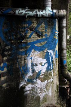 women in the walls - street art stencil