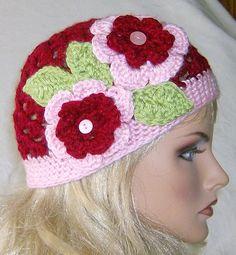 Ladies, Teens, Womens, Spring/Summer Floral Beanie Hat. $25.00, via Etsy.