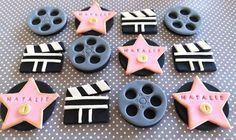 12 Fondant edible cupcake/cookie toppers by TopCakeDecors on Etsy