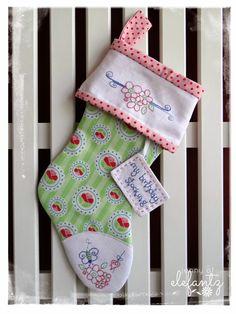 Jenny of ELEFANTZ: TUTORIAL - the rosedaisy birthday stocking!