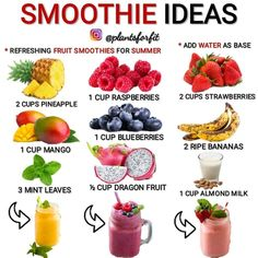 The ketogenic diet is great for really fast weight loss. By taking your sugars down to zero and your carbs to less than total calories, you suppres… Smoothie Bar, Smoothie Fruit, Yummy Smoothies, Weight Loss Meals, Weight Loss Smoothies, Weight Loss Drinks, Healthy Drinks, Healthy Snacks, Healthy Recipes