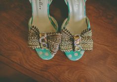 Betty Muller wedding shoes | photo by Rock the Image | 100 Layer Cake