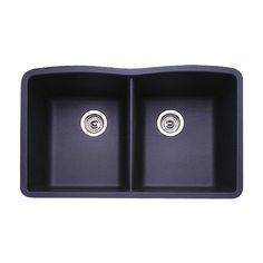 BLANCO Diamond x Anthracite (Black) Double-Basin Undermount Residential Kitchen Sink Blanco Kitchen Sinks, Blanco Sinks, Bar Keepers Friend, Black Bowl, Dishwasher Soap, Engineered Stone, Countertop Materials, Updated Kitchen
