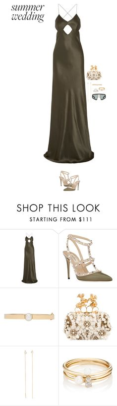 """""""should i bring my Gucci shades?"""" by your-new-stylist ❤ liked on Polyvore featuring Michelle Mason, Valentino, Chloé, Alexander McQueen, Cornelia Webb, Loren Stewart, Gucci and summerwedding"""