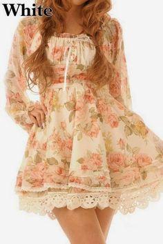 Liz Lisa Fairy Rose Floral Chiffon Dress | eBay